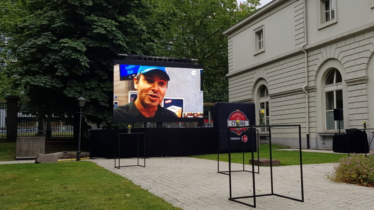 Outdoor Led screen for Tour de France @ Egmont Palace