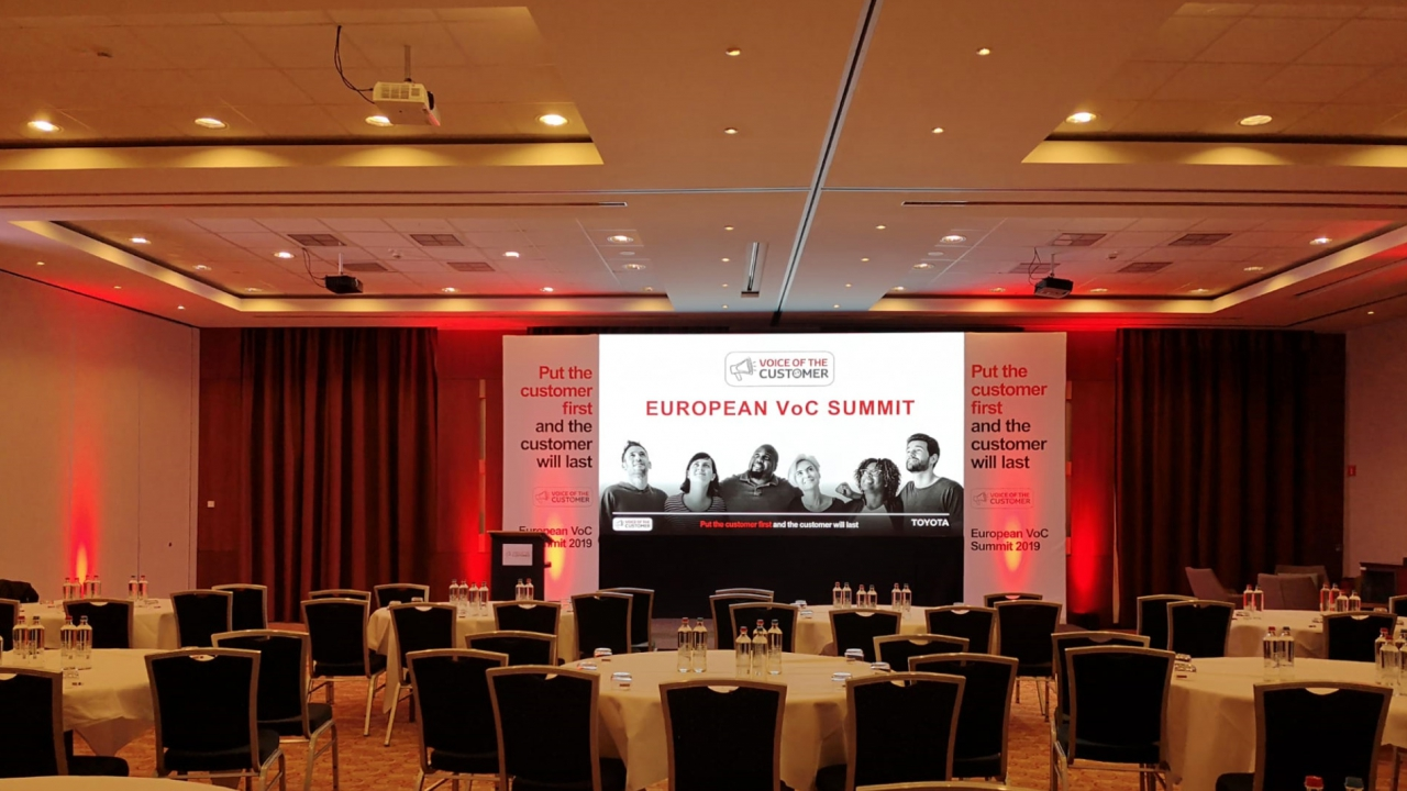 Audiovisual equipment for presentation @ Hotel Zaventem