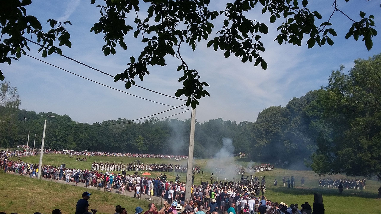 Sound system for reenactement of the battle @ Waterloo 1815